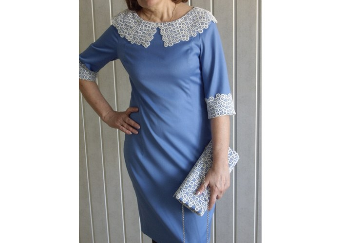 Сшить платье с воротником кружевом